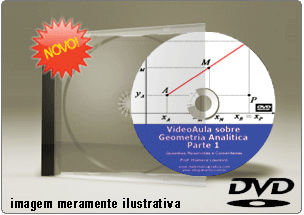 Videoaula Geometria Analítica – Parte 1 – DVD