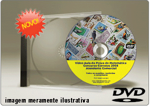 Videoaula Prova Matemática Correios 2008 – 2011 – Atendente – DVD