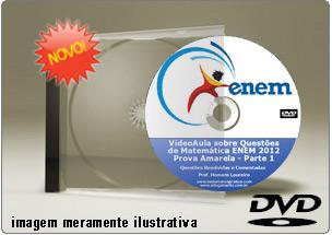 Videoaula Questões Matemática Resolvidas ENEM 2012 Parte 1 – DVD
