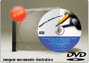 Videoaula Questões de Português FCC – DVD