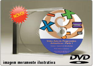 Videoaula de Progressão Aritmética Parte 1 – DVD
