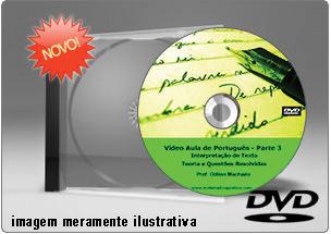 Videoaula Língua Portuguesa Parte 3 – DVD