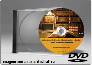 Videoaula de Direito Administrativo Parte 1 – DVD