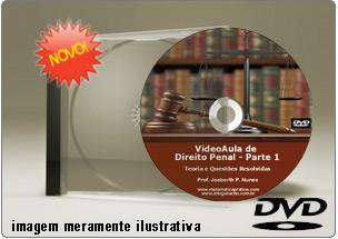 Videoaula de Direito Penal Parte 1 – DVD