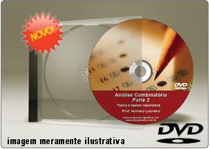 Videoaula Análise Combinatória – Parte 2 – DVD