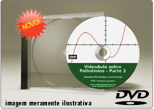 Videoaula de Polinômios – Parte 2 – DVD