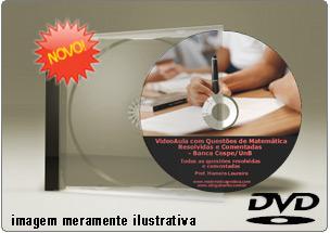 Videoaula com Questões de Matemática Cespe – DVD