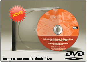 Videoaula Prova de Matemática Concurso Banco Central – DVD