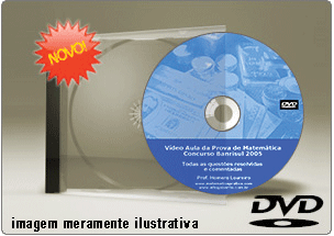 Videoaula Prova de Matemática Concurso Banrisul – DVD