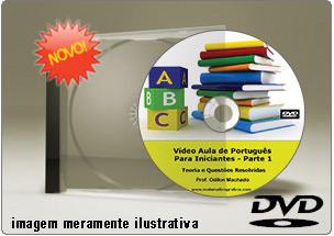 Videoaula de Português para Iniciantes Parte 1 – DVD