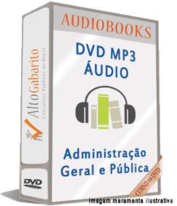 Audiobooks Aulas de Administração Geral e Pública – MP3 DVD