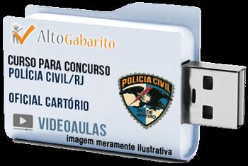 Curso Concurso Polícia Civil – RJ – Oficial Cartório – Videoaulas Pendrive