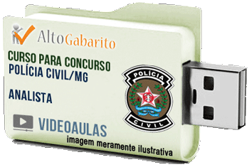 Curso Concurso Polícia Civil – MG – Analista – Videoaulas Pendrive