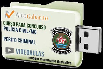 Curso Básico Concurso Polícia Civil – MG – Perito Criminal – Videoaulas Pendrive