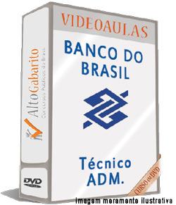 Curso Concurso Banco do Brasil – Técnico Administrativo – Videoaulas DVDs