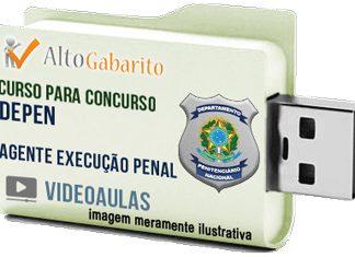 Curso Concurso DEPEN – Agente Execução Penal – Videoaulas Pendrive