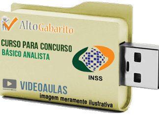Curso Básico Concurso INSS – Analista Seguro Social – Videoaulas Pendrive