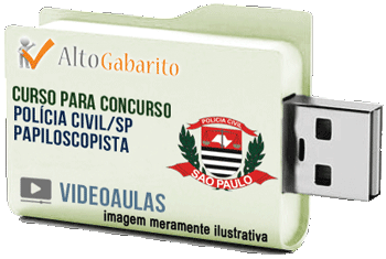 Curso Concurso Polícia Civil – SP – Papiloscopista – Videoaulas Pendrive