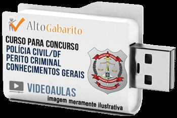 Curso Básico Concurso Polícia Civil – DF – Perito Criminal – Videoaulas Pendrive