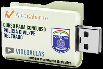 Curso Concurso Polícia Civil – PE – Delegado – Videoaulas Pendrive