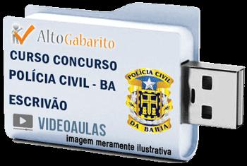 Curso Concurso Polícia Civil – BA – Escrivão – Videoaulas Pendrive