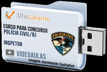 Curso Concurso Polícia Civil – RJ – Inspetor – Videoaulas Pendrive