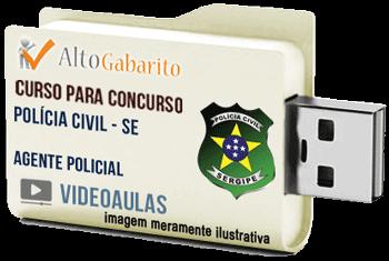 Curso Concurso Polícia Civil – SE – Agente Policial – Videoaulas Pendrive