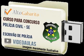 Curso Concurso Polícia Civil – SE – Escrivão – Videoaulas Pendrive