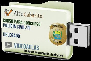 Curso Concurso Polícia Civil – PI – Delegado – Videoaulas Pendrive