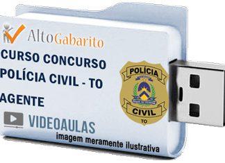 Curso Concurso Polícia Civil – TO – Agente – Videoaulas Pendrive