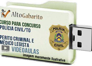 Curso Concurso Polícia Civil – TO – Perito Criminal – Médico Legista – Videoaulas Pendrive