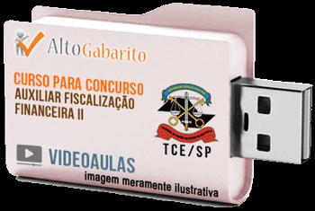 Curso Concurso Tribunal de Contas Estado – SP – Auxiliar Fiscalização Financeira II – Videoaulas Pendrive