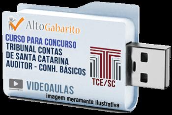Curso Básico Concurso Tribunal de Contas Estado – SC – Auditor Controle Externo – Videoaulas Pendrive
