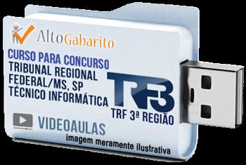 Curso Concurso TRF 3ª Região – Técnico Informática – Videoaulas Pendrive