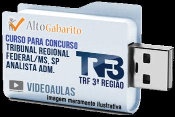 Curso Concurso TRF 3ª Região – Analista Administrativo – Videoaulas Pendrive