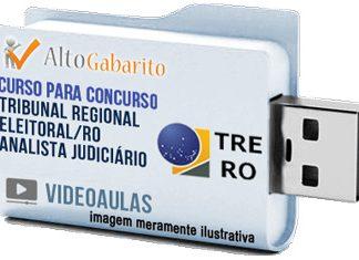 Curso Concurso Tribunal Regional Eleitoral – RO – Analista Judiciário – Videoaulas Pendrive