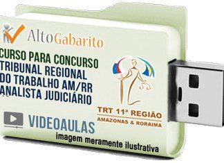 Curso Concurso TRT 11ª Região – AM – RR – Analista Judiciário – Videoaulas Pendrive