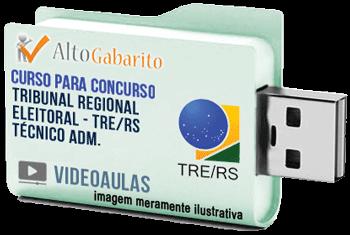 Curso Concurso Tribunal Regional Eleitoral – RS – Técnico Administrativo – Videoaulas Pendrive