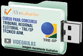 Curso Concurso Tribunal Regional Eleitoral – SP – Técnico Administrativo – Videoaulas Pendrive