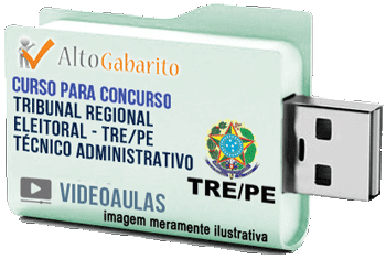 Curso Concurso Tribunal Regional Eleitoral – PE – Técnico Administrativo – Videoaulas Pendrive