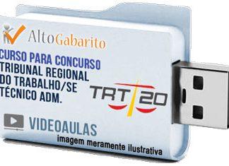 Curso Concurso TRT 20ª Região – SE – Técnico Administrativo – Videoaulas Pendrive