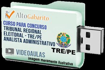Curso Concurso Tribunal Regional Eleitoral – PE – Analista Administrativo – Videoaulas Pendrive