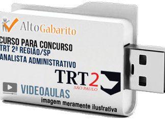 Curso Concurso TRT 2ª Região – SP – Analista Administrativo – Apoio Especializado – Videoaulas Pendrive