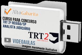 Curso Concurso TRT 2ª Região – SP – Analista Área Judiciária – Videoaulas Pendrive