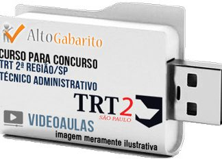 Curso Concurso TRT 2ª Região – SP – Técnico Área Administrativa – Videoaulas Pendrive