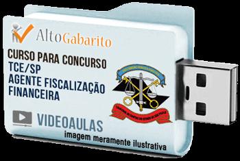 Curso Concurso Tribunal de Contas Estado – SP – Agente Fiscalização Financeira – Videoaulas Pendrive