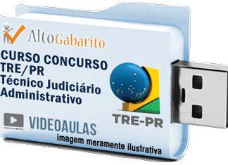 Curso Concurso Tribunal Regional Eleitoral – PR – Técnico Administrativo – Videoaulas Pendrive