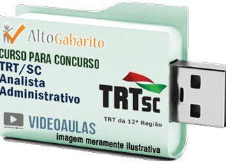 Curso Concurso TRT 12ª Região – SC – Analista Área Administrativa – Videoaulas Pendrive
