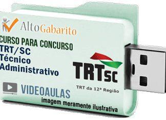 Curso Concurso TRT 12ª Região – SC – Técnico Área Administrativa – Videoaulas Pendrive