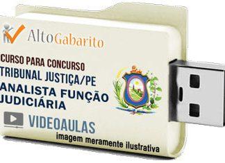 Curso Concurso Tribunal Justiça – PE – Analista Judiciário – Videoaulas Pendrive